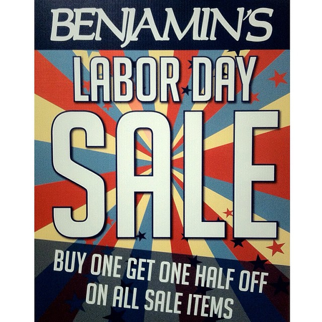 Don't miss our HUGE Labor Day Weekend Sale! Starts tomorrow ends Monday! Buy 1 get 1 half off on all men's tanks and women's swimwear. Also everything marked down is buy 1 get 1 HALF OFF! That includes all sale shoes, apparel and accessories! You can't miss this one! #benjaminscc #corpuschristi #cctx #laborday #skateboarding #surfing #beach #streetwear #benjaminsurfnskate #hugesales